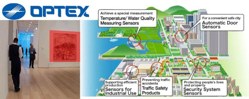 -OPTEX Alarmsysteme Infrarot Sicherung Beschreibungsbild