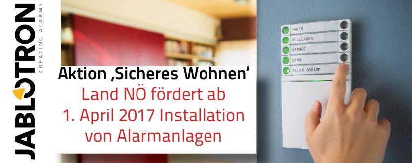 -Förderung von Alarmanlagen Land NÖ