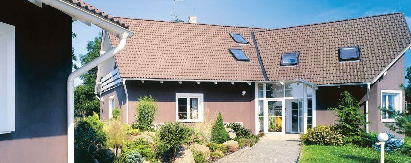-Ein Haus zur Außenüberwachung