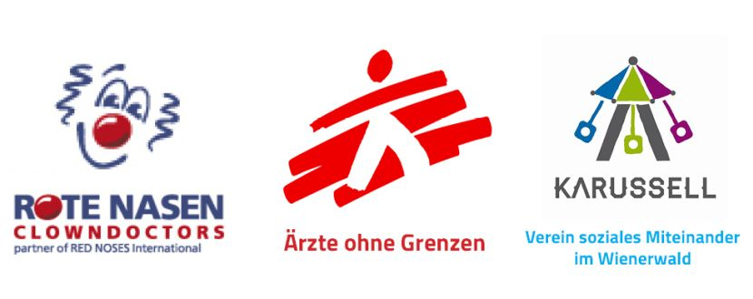 -Wir haben gespendet für Rote Nasen, Ärzte ohne Grenzen und Karussel-Verein soziales Miteinander im Wienerwald