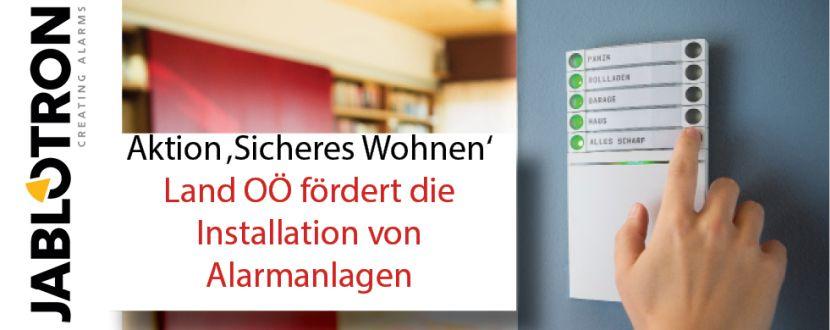 -Förderung von Alarmanlagen (Jablotron) Oberösterreich 2018
