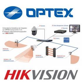 Integration von OPTEX-Komponenten in ein IP-basiertes Videoüberwachungssystem von HIKVISION-OPTEX und HIKVISION